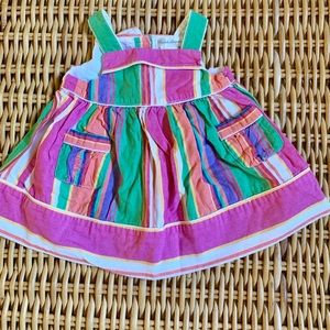 Ralph Lauren multicolor striped baby girl dress 3m